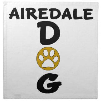 I Love My Airedale Dog Designs Napkin