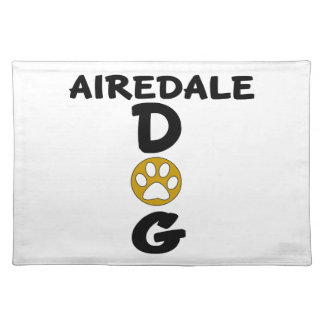 I Love My Airedale Dog Designs Placemat
