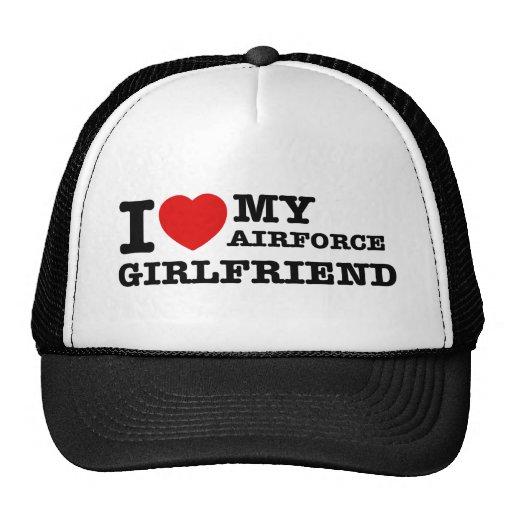 I love my Airforce girlfriend Hats