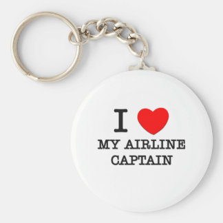 I Love My Airline Captain Key Chains