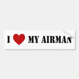 I Love My Airman Bumper Sticker