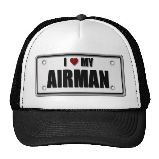 I Love My Airman Mesh Hat