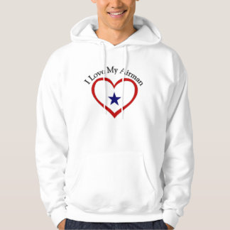 I Love My Airman Hooded Pullover