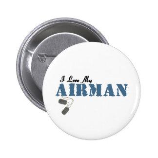 I Love My Airman Pinback Button