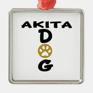 I Love My Akita Dog Designs Silver-Colored Square Decoration