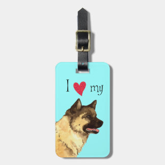 I Love my Akita Luggage Tag