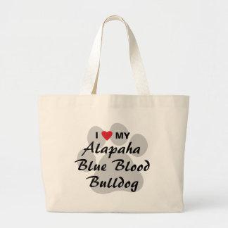 I Love My Alapaha Blue Blood Bulldog Jumbo Tote Bag