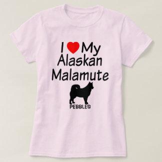 I Love My Alaskan Malamute Dog T-Shirt