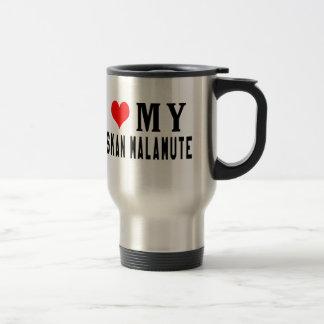 I Love My Alaskan Malamute Travel Mug