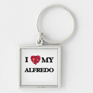 I love my Alfredo Silver-Colored Square Key Ring