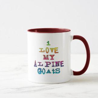 I Love My Alpine Goats Mug