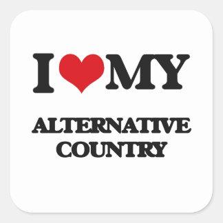 I Love My ALTERNATIVE COUNTRY Square Sticker