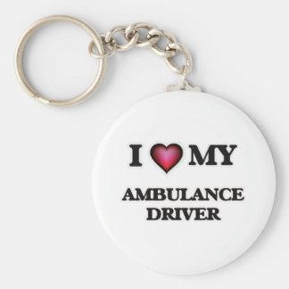 I love my Ambulance Driver Basic Round Button Key Ring