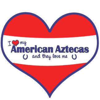 I Love My American Aztecas (Multiple Horses) Standing Photo Sculpture