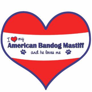 I Love My American Bandog Mastiff (Male Dog) Cut Out