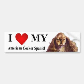 I Love My American Cocker Spaniel Bumper Sticker