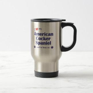 I Love My American Cocker Spaniel (Male Dog) 15 Oz Stainless Steel Travel Mug
