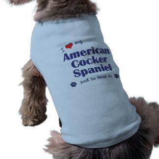 I Love My American Cocker Spaniel (Male Dog) Sleeveless Dog Shirt