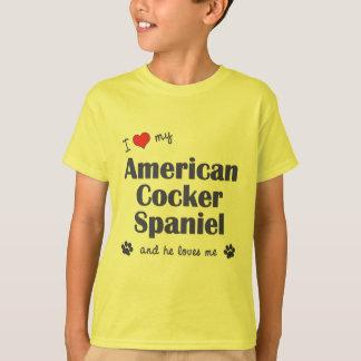 I Love My American Cocker Spaniel (Male Dog) T Shirts