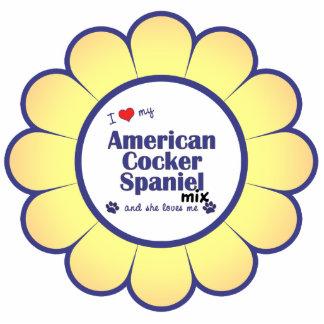 I Love My American Cocker Spaniel Mix (Female Dog) Photo Cut Outs