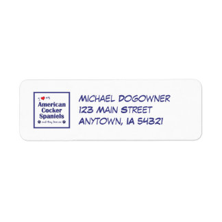 I Love My American Cocker Spaniels (Multiple Dogs) Return Address Label