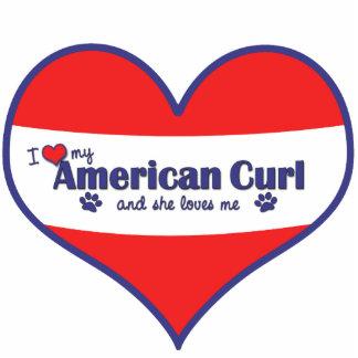 I Love My American Curl (Female Cat) Cut Outs