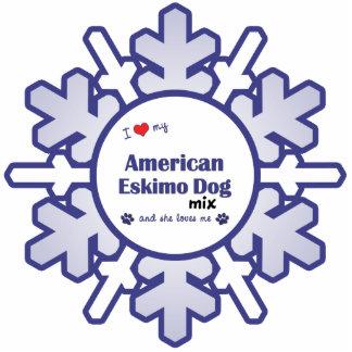 I Love My American Eskimo Dog Mix (Female Dog) Acrylic Cut Out