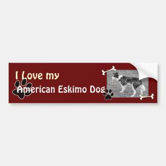 I love my American Eskimo DogBumper Sticker Bumper Sticker