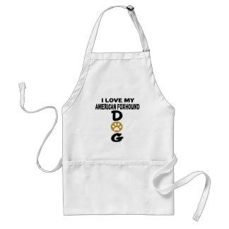 I Love My American foxhound Dog Designs Standard Apron