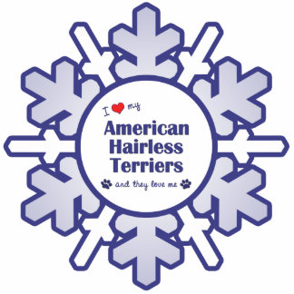 I Love My American Hairless Terriers (Multi Dogs) Photo Cut Out