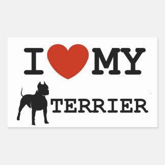 i love my american staffordshire terrier sticker