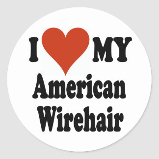 I Love My American Wirehair Merchandise Stickers