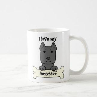 I Love My Amstaff Basic White Mug