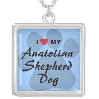 I Love My Anatolian Shepherd Dog Square Pendant Necklace