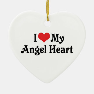 I Love My Angel Heart Ceramic Heart Decoration