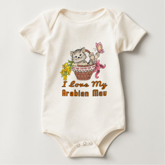I Love My Arabian Mau Baby Bodysuit