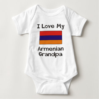 I Love My Armenian Grandpa Baby Bodysuit