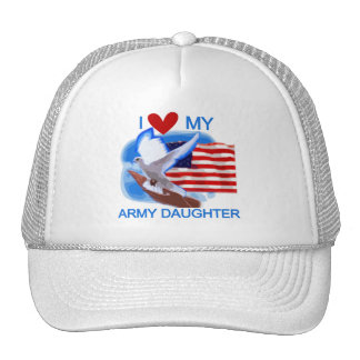 I Love My Army Daughter Tshirts and Gifts Mesh Hat