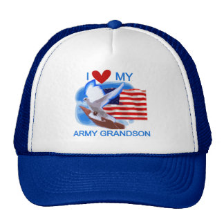 I Love My Army Grandson Tshirts and Gifts Cap