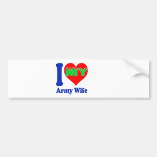 I love my Army Wife. Bumper Stickers