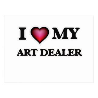 I love my Art Dealer Postcard