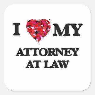 I love my Attorney At Law Square Sticker