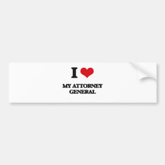 I Love My Attorney General Bumper Sticker