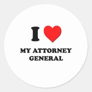 I Love My Attorney General Round Stickers
