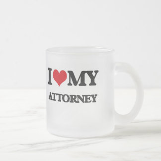 I love my Attorney Frosted Glass Mug
