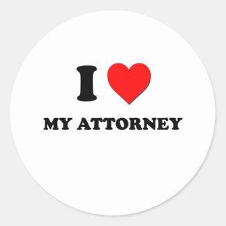 I love My Attorney Stickers