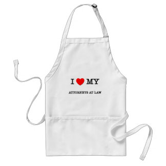 I Love My ATTORNEYS AT LAW Adult Apron
