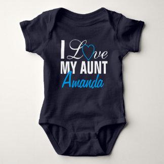 I Love My Aunt-The Aunt Name. Custom Made Infant Creeper