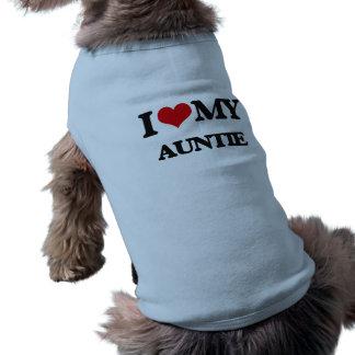 I love my Auntie Sleeveless Dog Shirt
