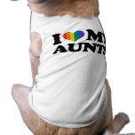 I Love My Aunts Sleeveless Dog Shirt